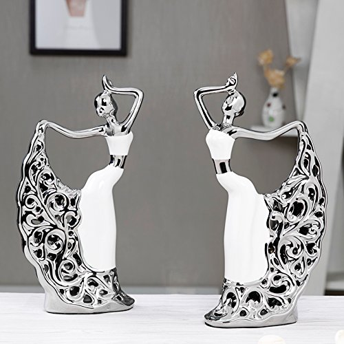 XOYOYO The Living Room Decoration Modern Minimalist Decoration Home Furnishing Fashion Process Closet Tv Wine Bar Entrance Figure Decoration, 1 Peacock Pairs Dancers