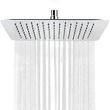 S R SUNRISE Alcachofa fija para ducha Acero inoxidable rectangular 12 pulgadas SRSH1203