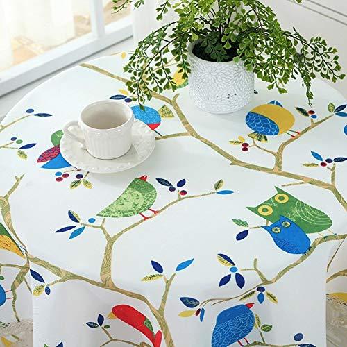 CNZXCO Runde Tischdecken Mit lace Trim Wasserdicht Spritzwassergeschützte Tisch-Abdeckung Bettwäsche aus Baumwolle Für küche Esszimmer Restaurant-Party Dekoration-D Durchmesser 90 cm (35 Zoll) Vinyl Lace Trim