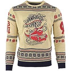 Harry Potter Christmas Jumper Ugly Sweater Hogwarts Express for Men Women Boys and Girls [Importación alemana]