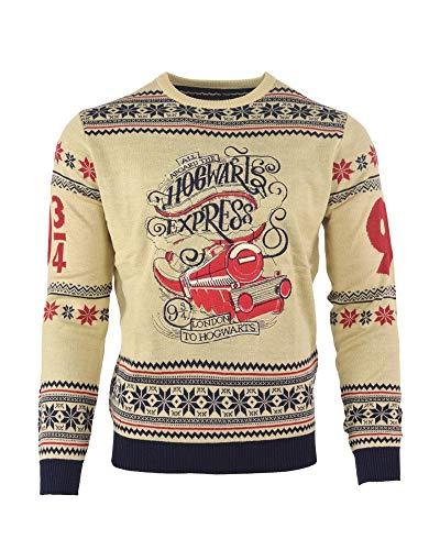 Preisvergleich Produktbild Harry Potter Christmas Jumper Ugly Sweater Hogwarts Express for Men Women Boys and Girls