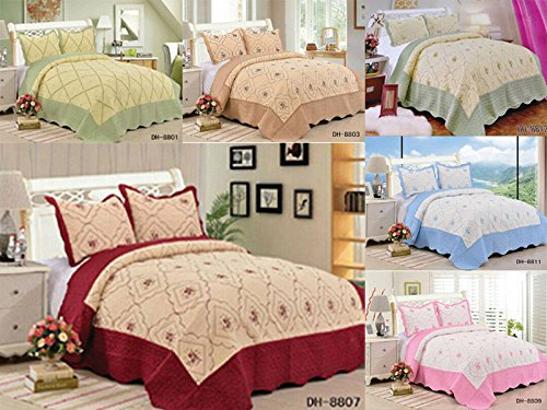 new-3-piece-luxury-polycotton-bedspreads-floral-embroidered-bedspread-throw-matching-pillow-cases-11
