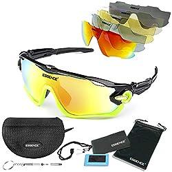Essence polarizada deportes gafas de sol/ciclismo para hombres mujeres-deporte al aire libre esquí de conducción de pesca de golf – protección UV400 polarizada – accesorios incluidos