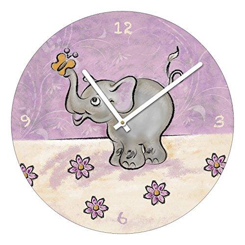 Pro-Art-imágenes Van ta036 Vidrio-Reloj de Pared-Art, Emil Elefant, diámetro 40 cm