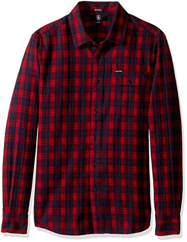 Volcom Herren Hemd Fulton Longsleeve Flannel blood red