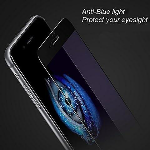 Baseus Silk-Screen Anti Luce Blu Protezione Pellicola in Vetro Temperato Ultra Sottile 0,2mm per iPhone 7iPhone 7Plus Piena copertura automatica, per iPhone 7