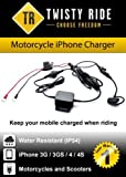 Twisty Ride iPhone Ladegerät (Motorräder und Roller) schwarz