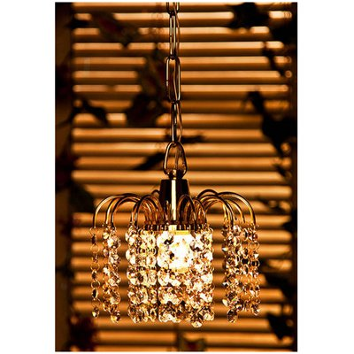 Fos Lighting Golden Fountain Crystal Hanging Light