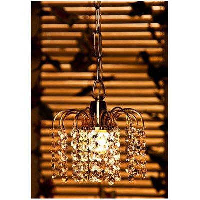 Fos Lighting Golden Fountain Crystal Hanging Light
