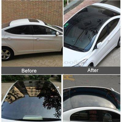 StickersLab - Pellicola adesiva nero lucido 3 strati per tetto auto no bolle (Misura - 135cm x 200cm)
