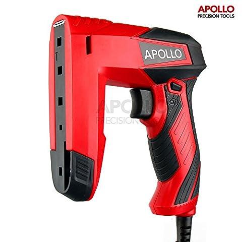 Apollo Elektrische Dual-Funktions-Klammer- & Nagel-Pistole, inklusive 400 x 10mm Klammern und 100 x 14mm (Polster Hefter)