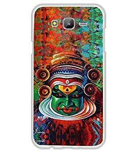 Kathakkali Mask 2D Hard Polycarbonate Designer Back Case Cover for Samsung Galaxy E5 (2015) :: Samsung Galaxy E5 Duos :: Samsung Galaxy E5 E500F E500H E500HQ E500M E500F/DS E500H/DS E500M/DS