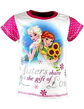 Disney Frozen Die Eiskönigin T-Shirt, Original Lizenzware, weiß/pink, Gr. 86 - 128
