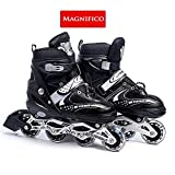 MAGNIFICO Inline Skates with PU Flashing Wheel Aluminum Body with Adjustable Shoes Length