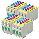 4x Set Kompatible C/M/Y Farbe Drucker Tintenpatronen - Cyan / Magenta / Gelb ersetzt T0712, T0713,T0714 (12 Tinten) für den Einsatz in Epson Stylus D78 D92 D120 DX4000 DX4050 D5050 DX400 DX4400 DX4450 DX5000 DX5050 DX6000 DX6050 DX7000F DX7400 DX7450 DX8400 DX8450 DX9400 DX9400F SX115 BX300F BX310FN BX3450 SX200 SX205 SX210 SX215 SX218 SX400 SX405 SX415 SX510W SX515W SX600FW SX610FW (Enthält: T0712, T0713, T0714)