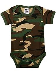 Body ou Barboteuse bébé Manches courtes - Grenouillère ou Body pour bébé body bébé naissance 100% Coton Couleur vert kaki, camouflage Look Militaire idéal cadeau de naissance