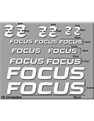 PEGATINAS FOCUS BIKE R121 VINILO ADESIVI DECAL AUFKLEBER КЛЕЙ MTB STICKERS BIKE (BLANCO)