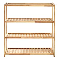 Premier Housewares Wood Shoe Rack, 30 x 79 x 26 cm - Natural