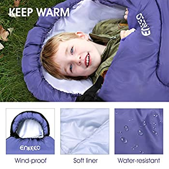 Enkeeo 3 – 4 Season Mummy Sleeping Bag With Bag Of Built-in Compressionhoodpocket, Impearmeabile & Breathable, Lightweight & Compact For Travel Camping Travel, Men's, Purple 1