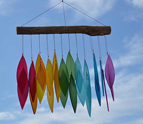 rainbow-frosted-glass-leaf-wind-chime-bali
