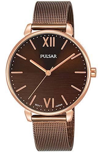 Pulsar casual orologio Donna Analogico Al quarzo con cinturino in Acciaio INOX placcato PH8450X1