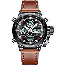 d5532980af9e Relojes Hombre Reloj Militar Deportivos Digital Impermeable LED Cronometro  Calendario Fecha Electrónico Reloj Grandes de Pulsera