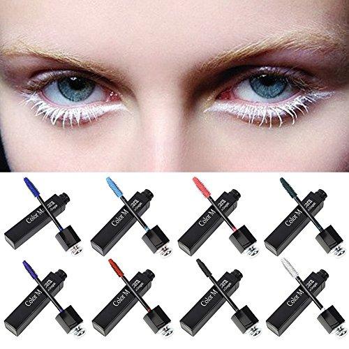 auf viel bunte Mascara 8 Farbe in der Wahl magisches Make-up perfekt für Halloween Cosplay (Halloween-make-up-farben)