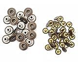 14mm Messing Jeans Knöpfe Dunkel Bronze und Nägel mit Befestigung Hand-werkzeug JB47 by Trimming Shop - 20, Jeans Buttons and HAND TOOL