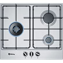 Balay 3ETX663MN Integrado Encimera de gas Acero inoxidable hobs - Placa (Integrado, Encimera de gas, Acero inoxidable, Acero inoxidable, 1000 W, 3000 W)