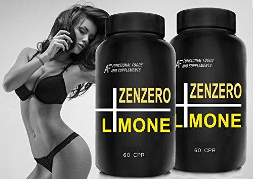 ZENZERO+LIMONE+POMPELMO A.I.F. - 120cpr (per 2 mesi di trattamento) Bruciagrassi TRIPLA AZIONE con estratti di Semi di Pompelmo! Azione Dimagrante, snellente, antiossidante,Detox
