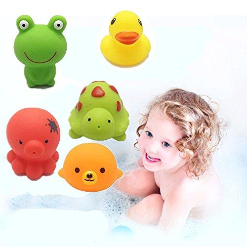 Baby-Badewanne Wasserspielzeug , Morbuy Badspielzeug süße Schwimmende Tiere (5Pcs) (Bio-baby-badewanne)