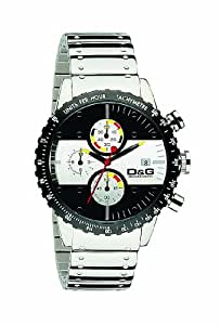 Dolce Gabbana - DW0374 - Montre Homme - Quartz - Chronographe - Bracelet Acier Inoxydable Argent