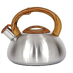 Edelstahl Induktion Wasserkocher Teekessel 3,0 L elegant Pfeifkessel