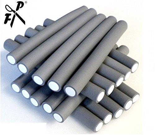 Papilotten - Flex-Wickler Set 24 Stck. + Kosmetiktasche - 19 mm grau