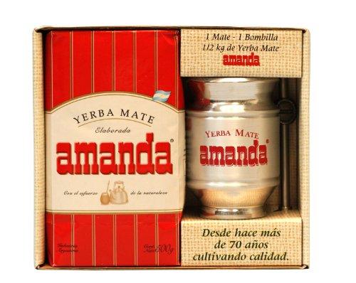 Yerba Mate Kits (Kit bestehend aus 500g Yerba Mate, 1 Trinkbecher aus Aluminium und 1 Bombilla aus Edelstahl)