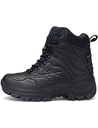 ShangYi Esercito fan scarpe da trekking all'aperto antiscivolo stivali tattici desert scarpe stivali militari maschio, nero, EU43/UK9/CN44