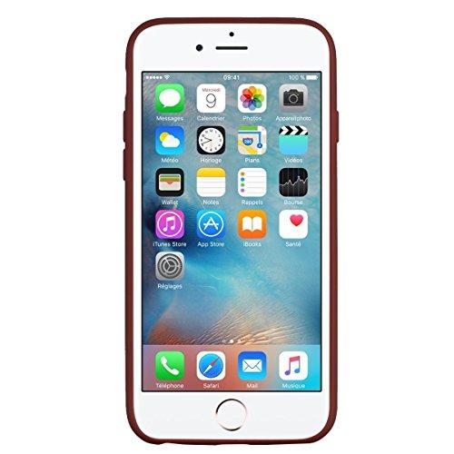 Apple iPhone 6 Hülle, Voguecase Silikon Schutzhülle / Case / Cover / Hülle / TPU Gel Skin für Apple iPhone 6/6S 4.7(Regenbogen-Einhorn/Blau) + Gratis Universal Eingabestift Regenbogen-Einhorn/Braun