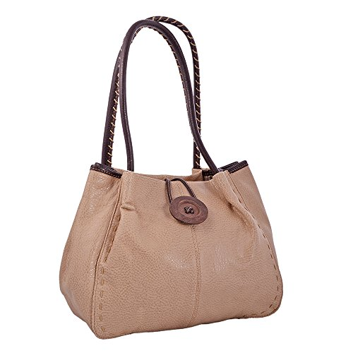 LeahWard® Damen Mode Essener Qualität Kunstleder Wood Taste Schultertasche Damen Stunning Flexible Handtasche CWRX140731 CWRS14131 Beige