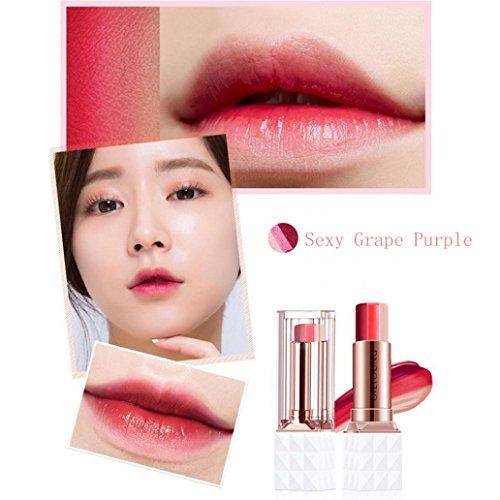 e-Up Lippenstift von drei Farben  sisit 3,5g Lip Gloss Moisturizing-Schwierigkeiten decolorize Gradient Tricolor Lipstick Feuchtigkeitsspende eine Nachhaltige Feuchtigkeitsversorgung ist nicht leicht Feinwaschmittel die Lippen überzogen (Biss Make Up)