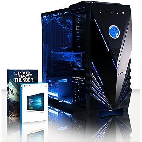 VIBOX Sniper 10XW - 4,0GHz Intel i7 Quad Core CPU, GTX 1060 GPU, Extremo, Ordenador de sobremesa Gaming con enfriador por agua con unidad central, Windows10 (3,4GHz (4,0GHz Turbo) SuperrápidoInteli76700Quad 4-CoreSkylake CPUProcesador, Nvidia GeForce GTX 1060 3GBGPUde laTarjeta gráfica de altorendimiento, 16 GB 2133MHzDDR4RAM, 120GBunidad de estadosàlidoSSD, Discoduro2TB, Thermaltake Performer Clíquidorefrigerador)