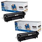 Toner für HP Laserjet 1010 1012 1015 1018 1020 1022 3015 3020 3030 3050 3052 3055 (2x Toner)