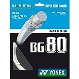 Yonex BG 80 Cordage pour raquette de badminton Blanc 10 m