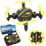 Rabing - Mini Drone RC Pliable FPV RV WiFi - Quatre hélices, avec télécommande et caméra HD 720p RC (Blanc)