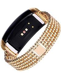 Acero inoxidable de la pulsera, happytop Classic pulsera correa de muñeca relojes de repuesto para Samsung Gear FIT2sm-r360, hombre, dorado, S