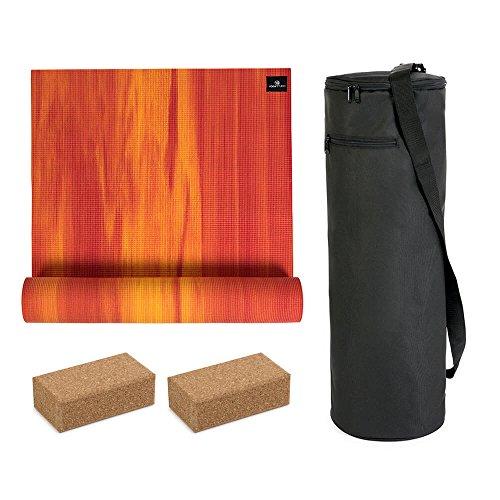 YogaStudio Eco Kit Bag Kit-6mm Yogamatte (Kit-Loading Tasche), rot, 6 mm -