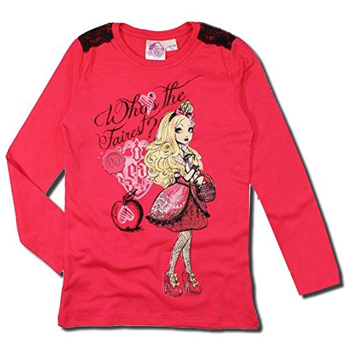 EVER AFTER HIGH MAGLIA MANICHE LUNGHE NOVITA' 2015 STAMPA GLITTERATA