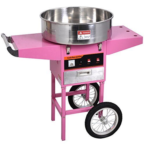 Costway 1030W Electric Commercial Cotton Candy Machine Cart Candyfloss Sugar Maker For Store Booth