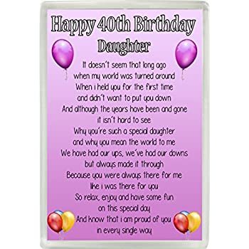 Pink FREE GIFT BOX 21st Birthday Daughter  Poem Personalised Coaster