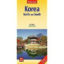 Nelles Map Landkarte Korea: North and South: 1:1,5 Mio | reiß- und wasserfest; waterproof and tear-resistant; indéchirable et imperméable; irrompible & impermeable (Nelles Map / Strassenkarte)