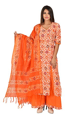 Aaditri Clothing Cotton Batik ,Stylish & Fashionable Women free Size Salwar Suit...
